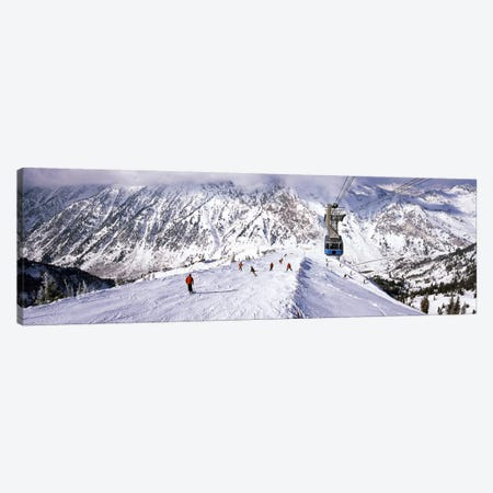 Overhead cable car in a ski resortSnowbird Ski Resort, Utah, USA Canvas Print #PIM8689} by Panoramic Images Art Print