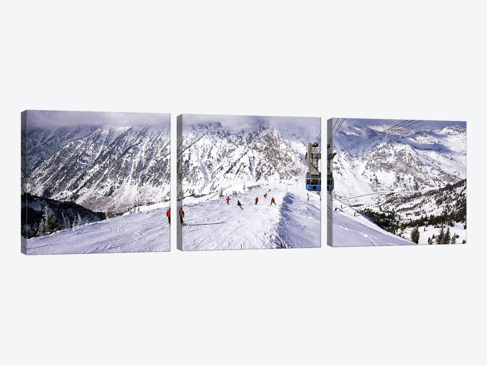Overhead cable car in a ski resortSnowbird Ski Resort, Utah, USA by Panoramic Images 3-piece Canvas Wall Art