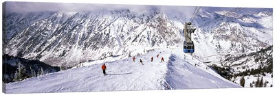 Overhead cable car in a ski resortSnowbird Ski Resort, Utah, USA Canvas Art Print