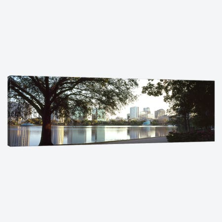 Buildings at the waterfront, Lake Eola, Orlando, Orange County, Florida, USA #2 Canvas Print #PIM8692} by Panoramic Images Canvas Artwork
