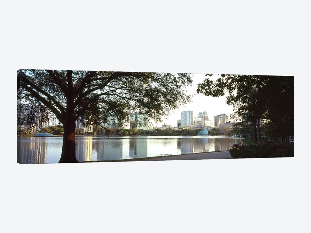 Buildings at the waterfront, Lake Eola, Orlando, Orange County, Florida, USA #2 by Panoramic Images 1-piece Canvas Artwork