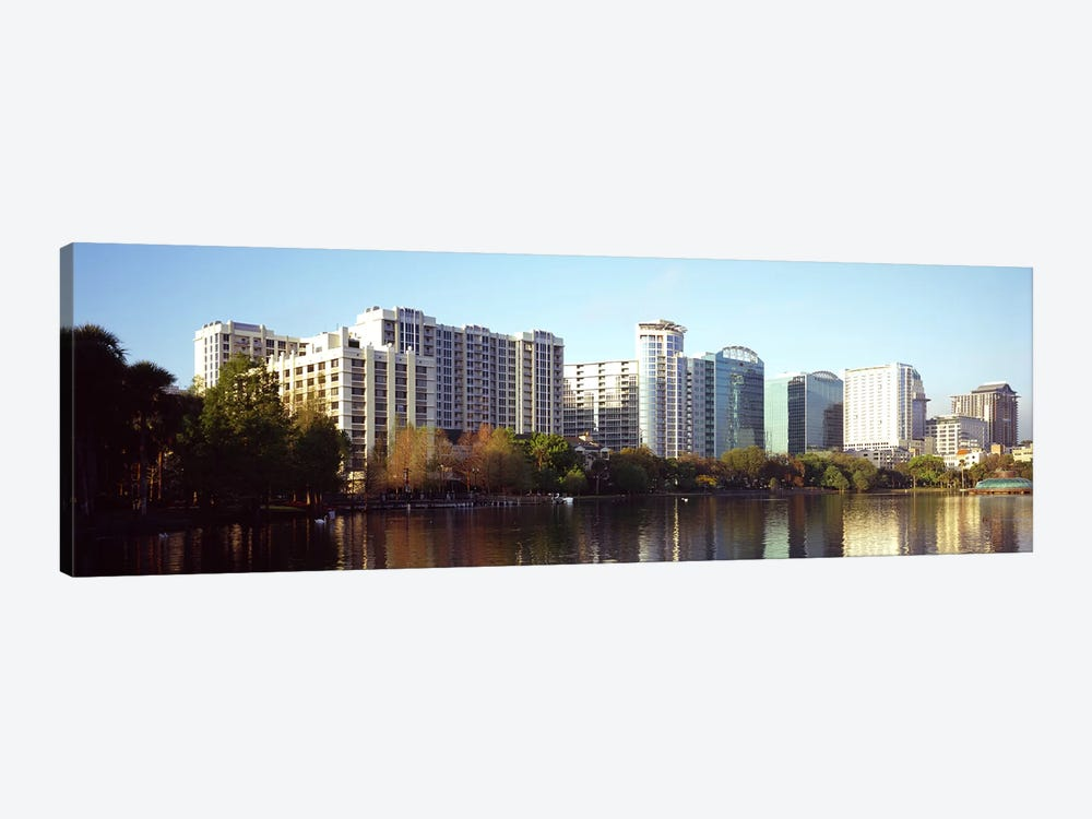 Buildings at the waterfront, Lake Eola, Orlando, Orange County, Florida, USA #3 by Panoramic Images 1-piece Canvas Art Print