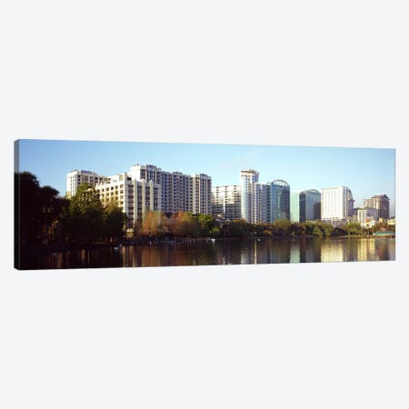Buildings at the waterfront, Lake Eola, Orlando, Orange County, Florida, USA #3 Canvas Print #PIM8693} by Panoramic Images Canvas Artwork