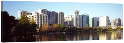 Buildings at the waterfront, Lake Eola, Orlando, Orange County, Florida, USA #3 Canvas Art Print
