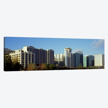 Skyscrapers in a city, Lake Eola, Orlando, Orange County, Florida, USA Canvas Print #PIM8694} by Panoramic Images Canvas Art Print