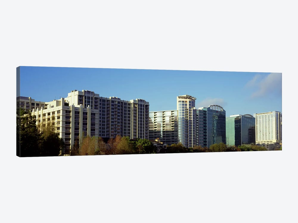 Skyscrapers in a city, Lake Eola, Orlando, Orange County, Florida, USA by Panoramic Images 1-piece Canvas Artwork