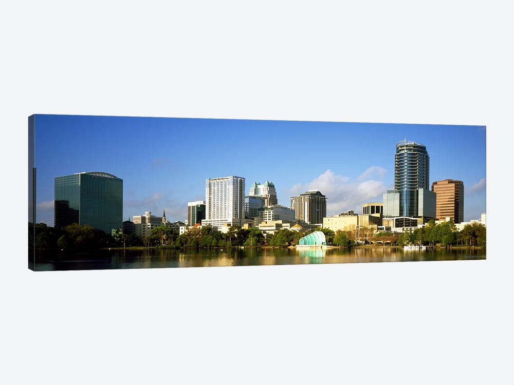 Buildings at the waterfront, Lake Eola, Orlando, Orange County, Florida, USA 2010 by Panoramic Images 1-piece Art Print
