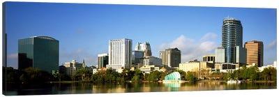 Buildings at the waterfront, Lake Eola, Orlando, Orange County, Florida, USA 2010 Canvas Art Print