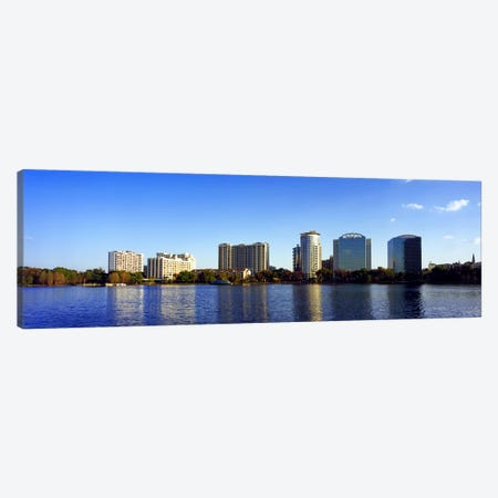 Buildings at the waterfront, Lake Eola, Orlando, Orange County, Florida, USA 2010 #2 Canvas Print #PIM8696} by Panoramic Images Canvas Art Print