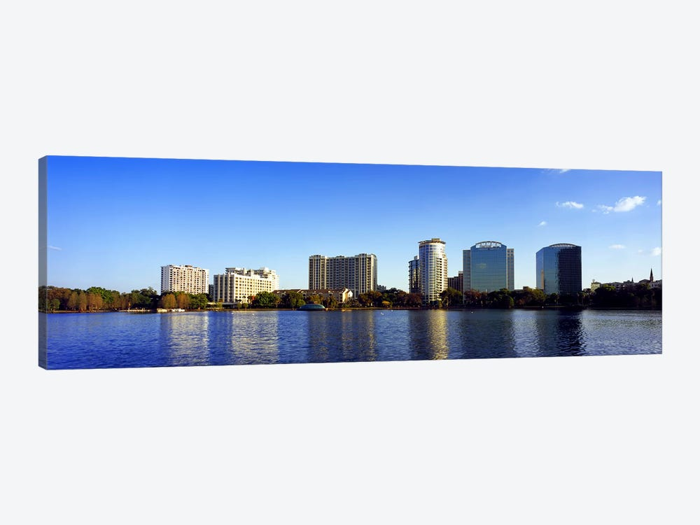 Buildings at the waterfront, Lake Eola, Orlando, Orange County, Florida, USA 2010 #2 by Panoramic Images 1-piece Canvas Art