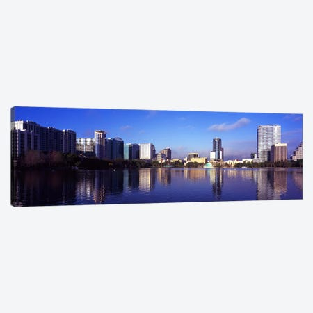 Buildings at the waterfront, Lake Eola, Orlando, Orange County, Florida, USA 2010 #3 Canvas Print #PIM8697} by Panoramic Images Art Print