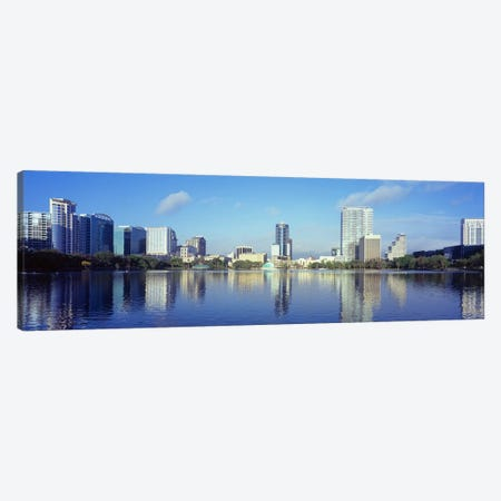 Buildings at the waterfront, Lake Eola, Orlando, Orange County, Florida, USA 2010 #4 Canvas Print #PIM8698} by Panoramic Images Canvas Artwork