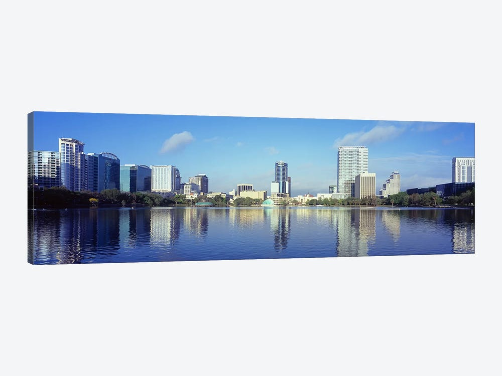 Buildings at the waterfront, Lake Eola, Orlando, Orange County, Florida, USA 2010 #4 by Panoramic Images 1-piece Canvas Wall Art