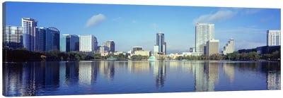 Buildings at the waterfront, Lake Eola, Orlando, Orange County, Florida, USA 2010 #4 Canvas Art Print