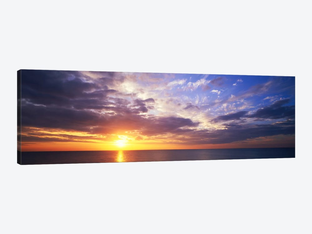 SunsetWater, Ocean, Caribbean Island, Grand Cayman Island by Panoramic Images 1-piece Canvas Artwork