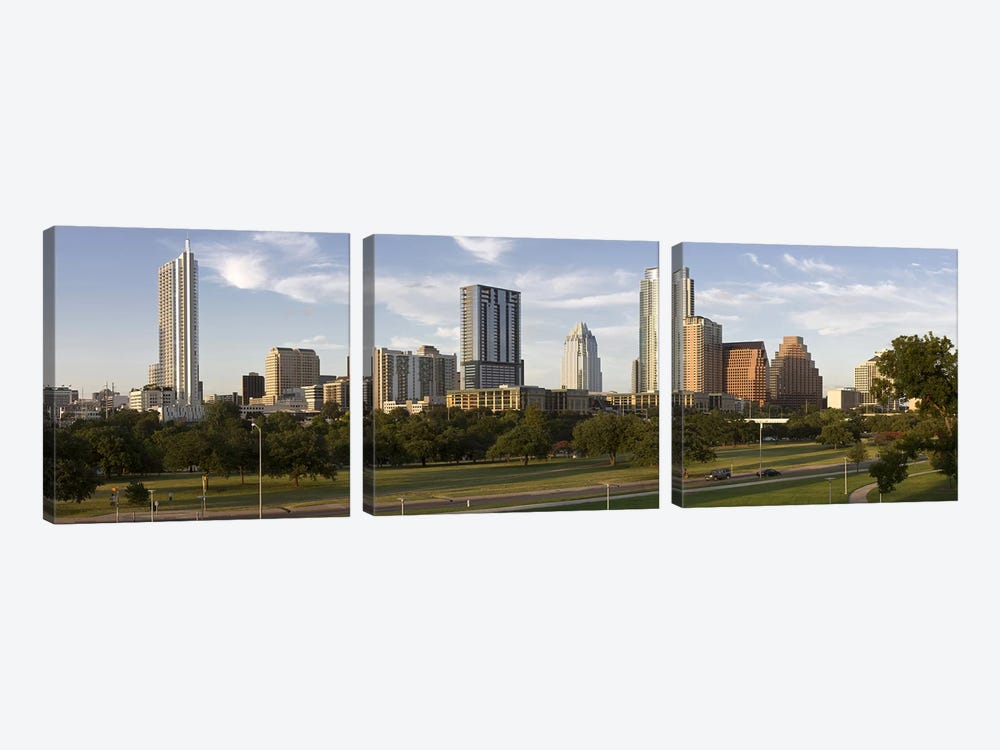 Buildings in a city, Austin, Travis County, Texas, USA by Panoramic Images 3-piece Canvas Print