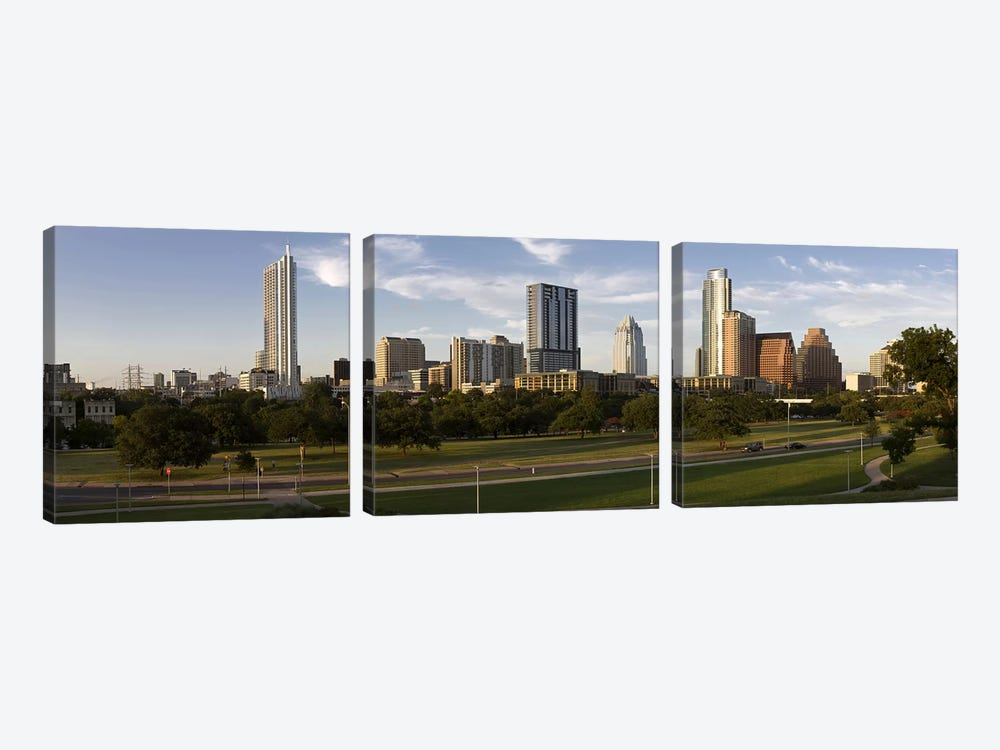 Buildings in a city, Austin, Travis County, Texas, USA #2 by Panoramic Images 3-piece Canvas Artwork