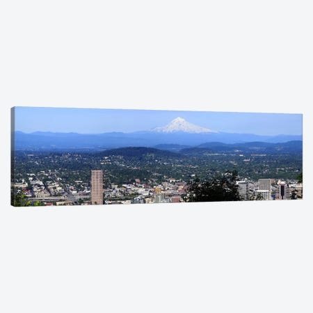 High angle view of a city, Mt Hood, Portland, Oregon, USA 2010 Canvas Print #PIM8710} by Panoramic Images Canvas Art Print