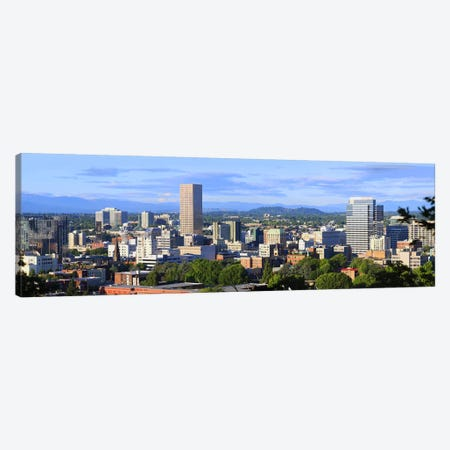 Skyscrapers in a city, Portland, Oregon, USA 2010 Canvas Print #PIM8711} by Panoramic Images Canvas Print