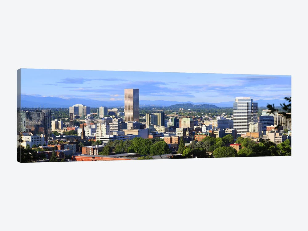 Skyscrapers in a city, Portland, Oregon, USA 2010 by Panoramic Images 1-piece Canvas Artwork