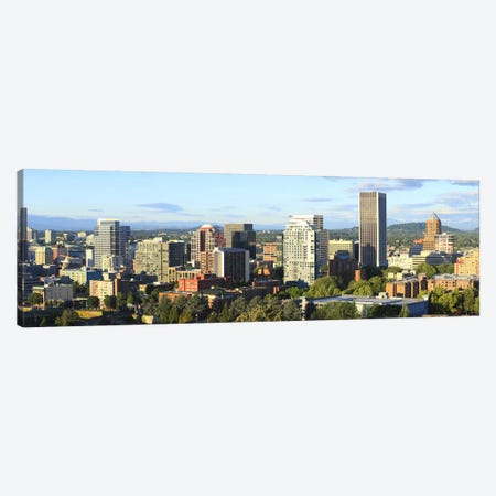 Skyscrapers in a city, Portland, Oregon, USA 2010 #2 Canvas Print #PIM8712} by Panoramic Images Art Print