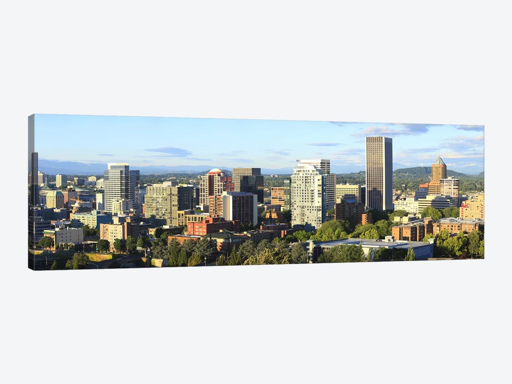Skyscrapers in a city, Portland, Oregon, USA 2010 #2 by Panoramic Images 1-piece Art Print