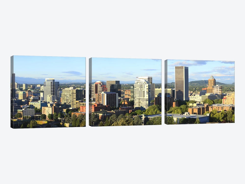 Skyscrapers in a city, Portland, Oregon, USA 2010 #2 by Panoramic Images 3-piece Canvas Print