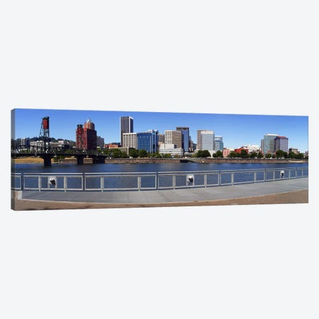 Buildings at the waterfront, Vista Point, Portland, Multnomah County, Oregon, USA 2010 Canvas Print #PIM8715} by Panoramic Images Canvas Art
