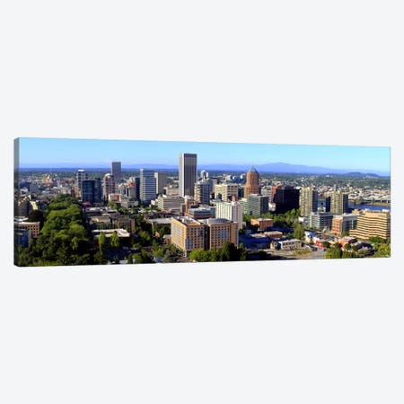 High angle view of a cityscape, Portland, Multnomah County, Oregon, USA 2010 #2 Canvas Print #PIM8717} by Panoramic Images Canvas Art