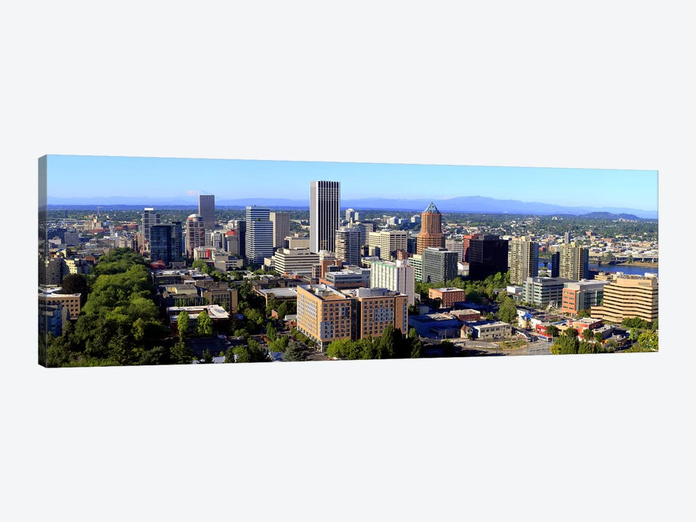 High angle view of a cityscape, Portland, Multnomah County, Oregon, USA 2010 #2 by Panoramic Images 1-piece Canvas Artwork