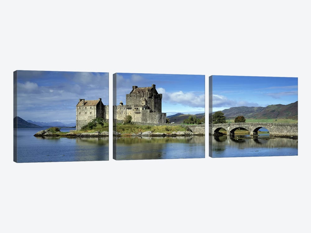 Eilean Donan Castle, Kintail National Scenic Area, Highland, Scotland, United Kingdom by Panoramic Images 3-piece Canvas Art