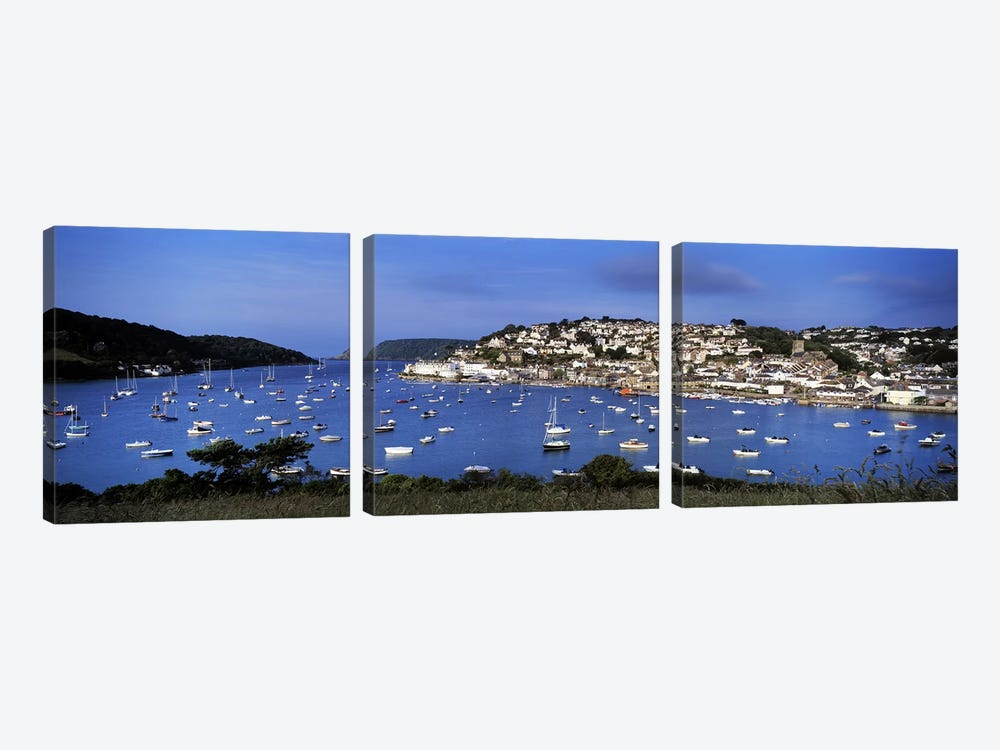 Harbour And Waterfront Architecture, Salcombe, South Hams, Devon, England, United Kingdom by Panoramic Images 3-piece Canvas Art