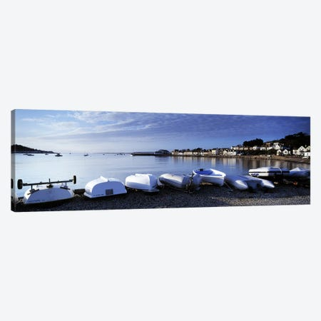 Boats on the beach, Instow, North Devon, Devon, England Canvas Print #PIM8721} by Panoramic Images Canvas Artwork