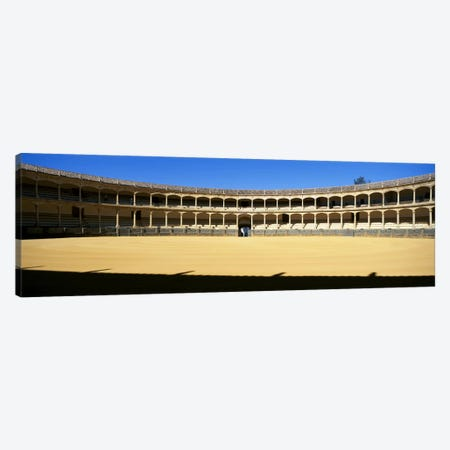 Bullring, Plaza de Toros, Ronda, Malaga, Andalusia, Spain Canvas Print #PIM8724} by Panoramic Images Art Print