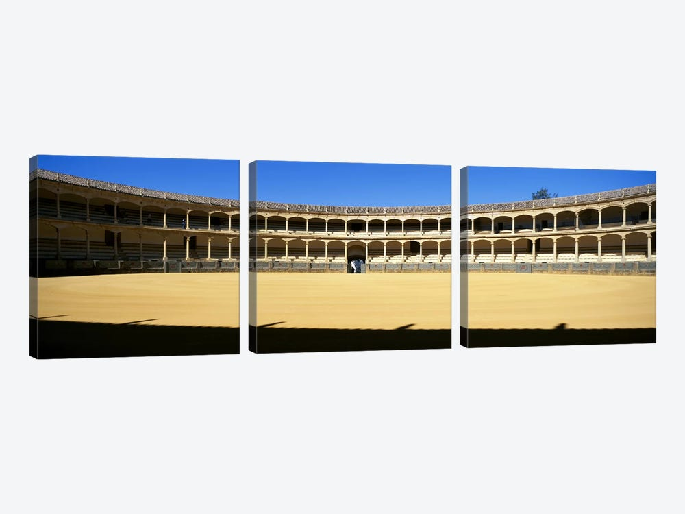 Bullring, Plaza de Toros, Ronda, Malaga, Andalusia, Spain by Panoramic Images 3-piece Canvas Art