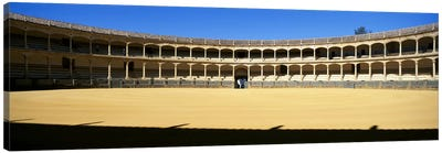 Bullring, Plaza de Toros, Ronda, Malaga, Andalusia, Spain Canvas Art Print
