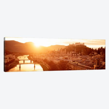 Austria, Salzburg, Salzach River Canvas Print #PIM872} by Panoramic Images Art Print