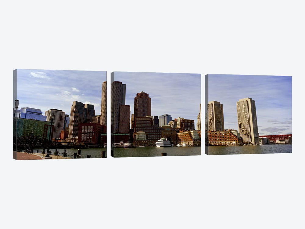 City at the waterfront, Fan Pier, Boston, Suffolk County, Massachusetts, USA 2010 by Panoramic Images 3-piece Canvas Art