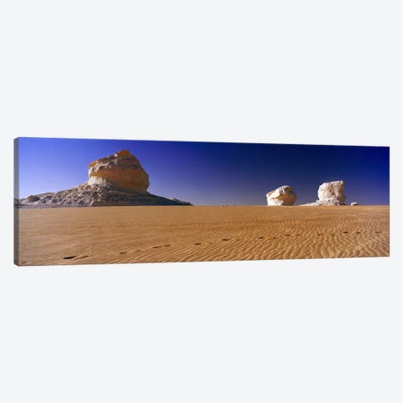 Rock formations in a desertWhite Desert, Farafra Oasis, Egypt Canvas Print #PIM8734} by Panoramic Images Canvas Artwork