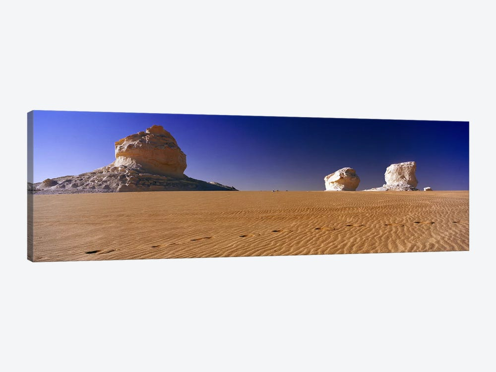 Rock formations in a desertWhite Desert, Farafra Oasis, Egypt by Panoramic Images 1-piece Art Print