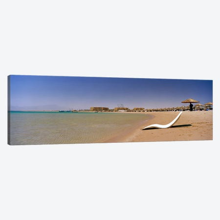 Chaise longue on the beach, Soma Bay, Hurghada, Egypt Canvas Print #PIM8735} by Panoramic Images Canvas Wall Art