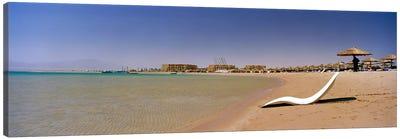 Chaise longue on the beach, Soma Bay, Hurghada, Egypt Canvas Print #PIM8735
