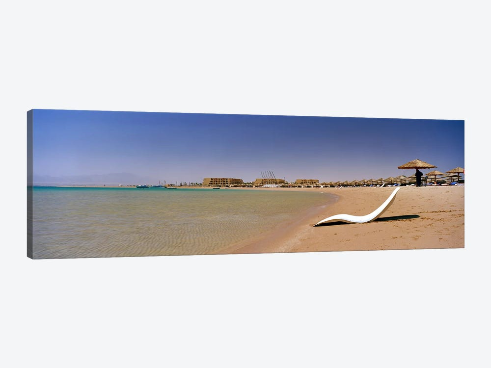 Chaise longue on the beach, Soma Bay, Hurghada, Egypt by Panoramic Images 1-piece Canvas Art