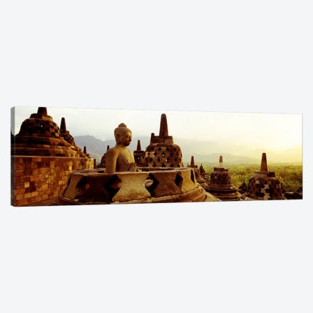 Indonesia, Java, Borobudur Temple Canvas Print #PIM874} by Panoramic Images Canvas Art