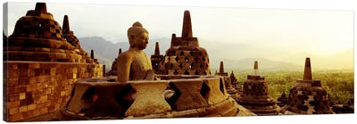 Indonesia, Java, Borobudur Temple Canvas Art Print