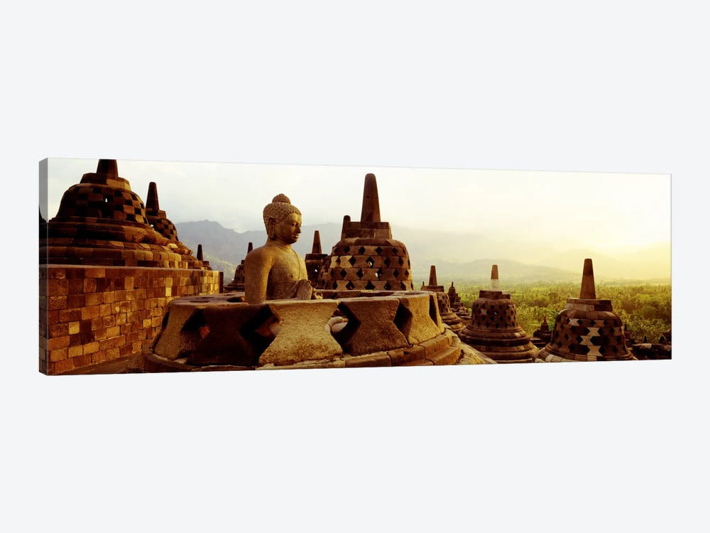 Indonesia, Java, Borobudur Temple by Panoramic Images 1-piece Canvas Artwork