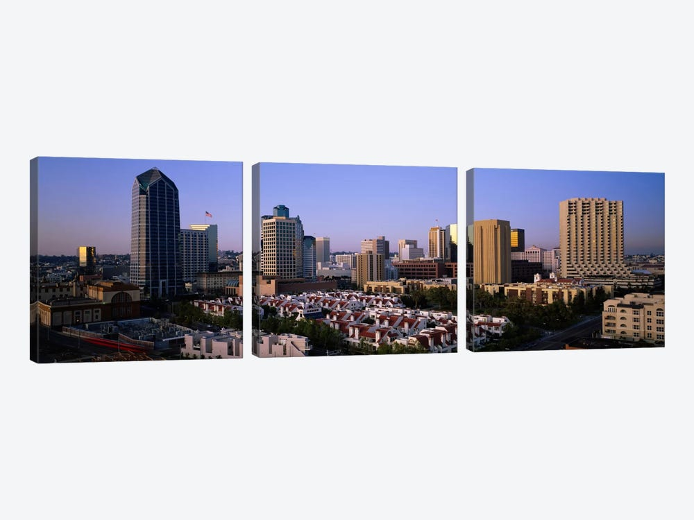 Buildings in a city, San Diego, California, USA #3 by Panoramic Images 3-piece Canvas Print