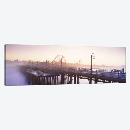 Pier with ferris wheel in the background, Santa Monica Pier, Santa Monica, Los Angeles County, California, USA Canvas Print #PIM8762} by Panoramic Images Canvas Wall Art