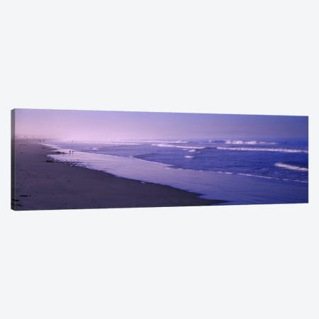 Surf on the beach, Santa Monica, Los Angeles County, California, USA Canvas Print #PIM8763} by Panoramic Images Canvas Wall Art