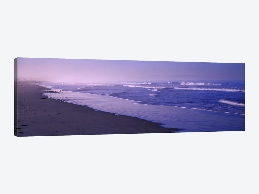 Surf on the beach, Santa Monica, Los Angeles County, California, USA by Panoramic Images 1-piece Canvas Print
